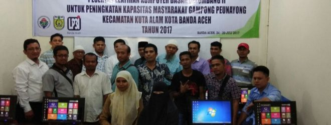 Peserta dari Masyarakat Gampong yang mengikuti Pelatihan Komputer Dasar di LP3i Banda Aceh